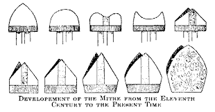 Evolution of the bishop's mitre
